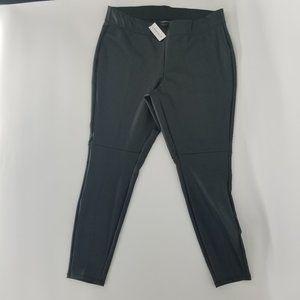 LB Black Faux Leather Leggings Pants